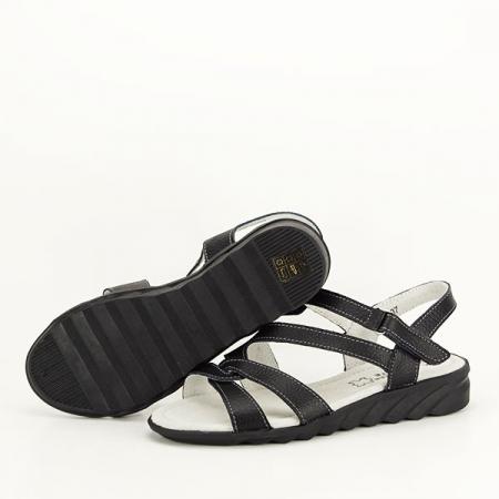 Sandale negre din piele naturala Suzana [6]