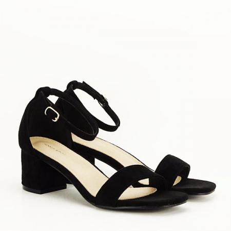 Sandale negre din velur Lorena [2]