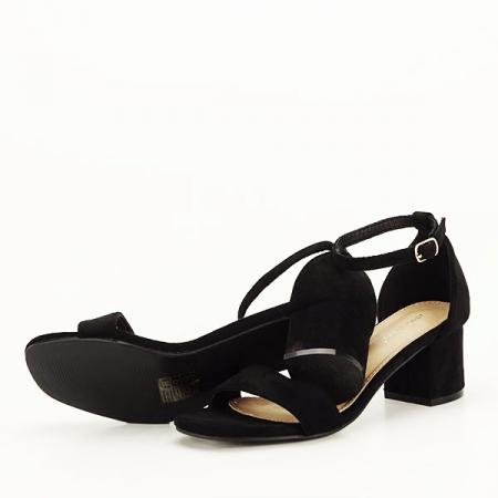 Sandale negre din velur Lorena [6]
