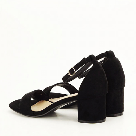 Sandale negre din velur Lorena [3]