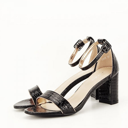 Sandale negre lacuite Sofia [1]