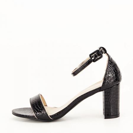 Sandale negre lacuite Sofia [0]