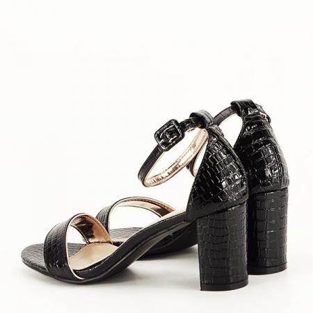 Sandale negre lacuite Sofia [2]