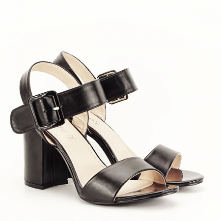 Sandale negre office/casual Berna [3]