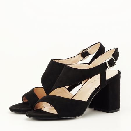 Sandale negre office/casual Olive [0]