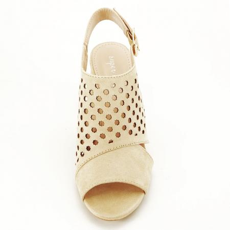 Sandale perforate bej Penelope3