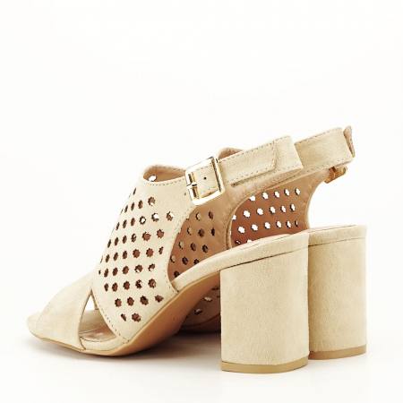 Sandale perforate bej Penelope6