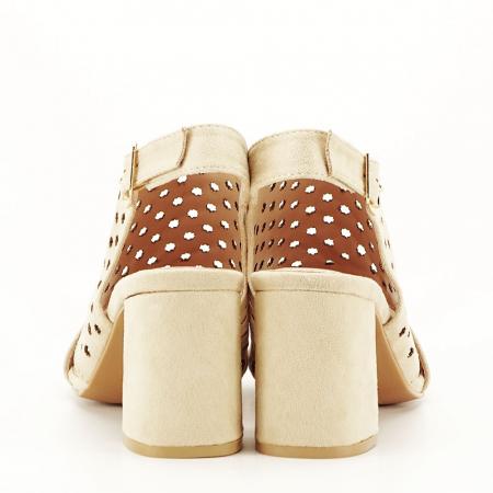 Sandale perforate bej Penelope5