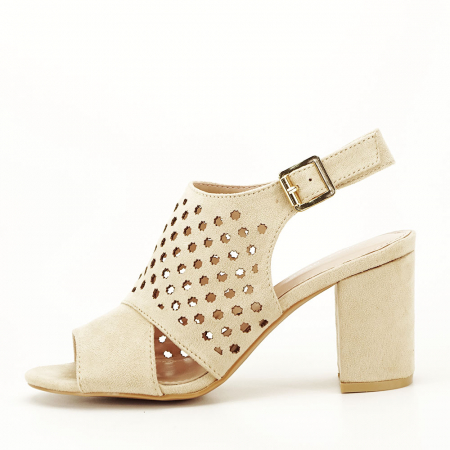 Sandale perforate bej Penelope1