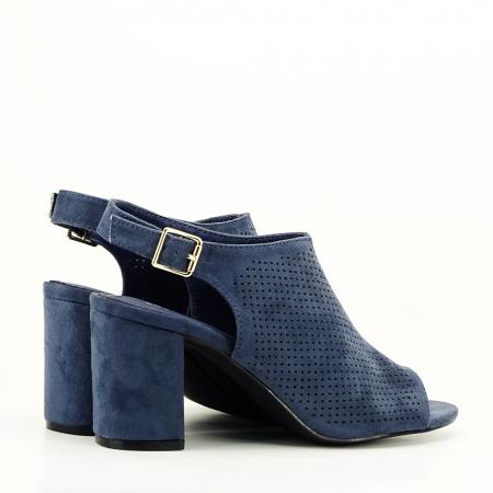 Sandale perforate bleumarin Bianca5