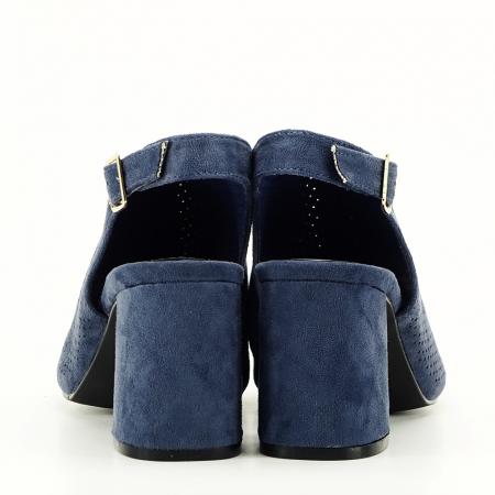 Sandale perforate bleumarin Bianca6