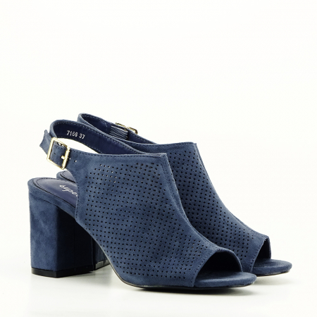 Sandale perforate bleumarin Bianca3