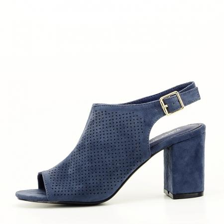 Sandale perforate bleumarin Bianca0