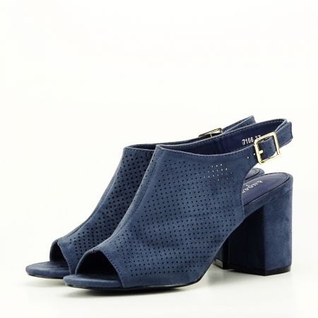 Sandale perforate bleumarin Bianca1