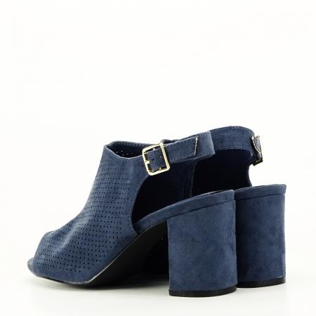 Sandale perforate bleumarin Bianca7