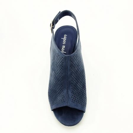 Sandale perforate bleumarin Bianca2