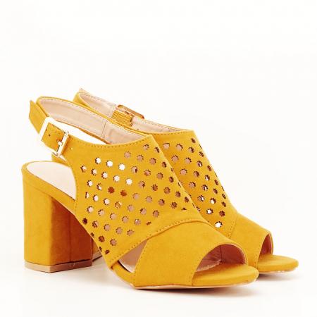Sandale perforate galben mustar Penelope [2]