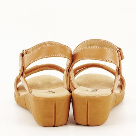 Sandale piele naturala maro deschis Mara [6]