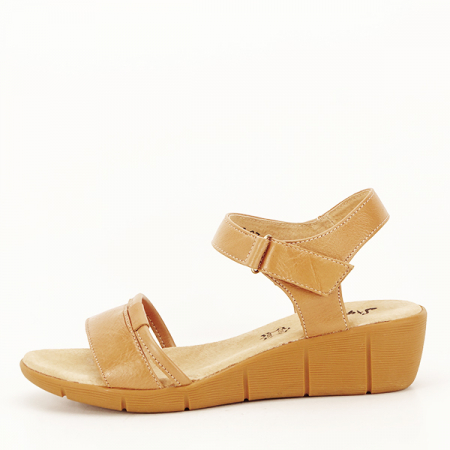 Sandale piele naturala maro deschis Mara [0]
