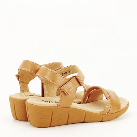 Sandale piele naturala maro deschis Mara [5]