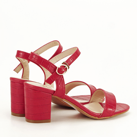 Sandale rosii cu imprimeu Violeta [5]