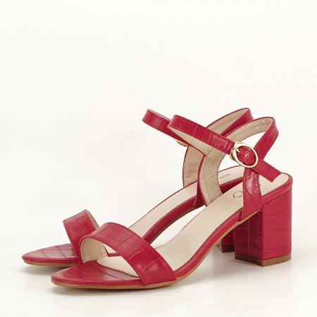 Sandale rosii cu imprimeu Violeta [2]