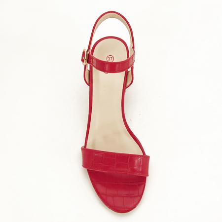 Sandale rosii cu imprimeu Violeta [1]