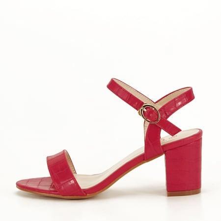 Sandale rosii cu imprimeu Violeta [0]