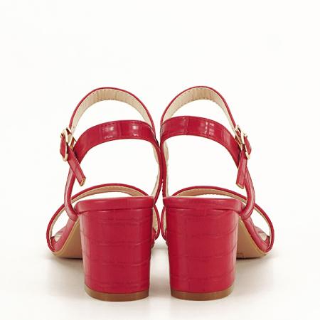 Sandale rosii cu imprimeu Violeta [6]