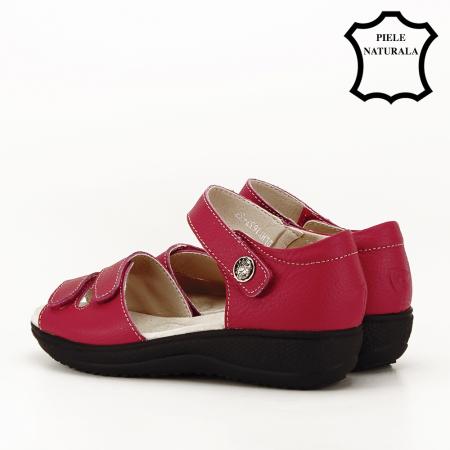 Sandale rosii din piele naturala Agata7