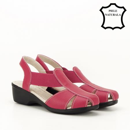 Sandale rosii din piele naturala Codruta5