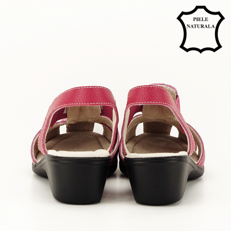 Sandale rosii din piele naturala Codruta7