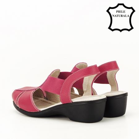 Sandale rosii din piele naturala Codruta6