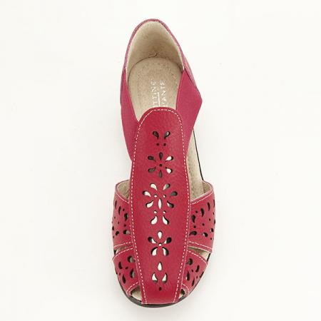 Sandale rosii din piele naturala Ozana [6]