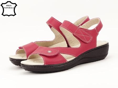 Sandale rosii din piele naturala Sara7