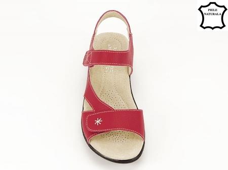 Sandale rosii din piele naturala Sara6