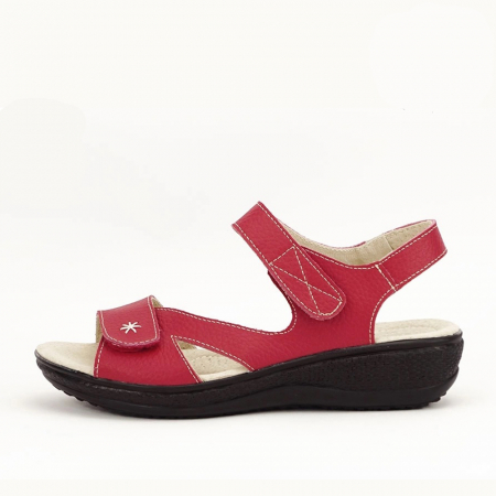 Sandale rosii din piele naturala Sara0