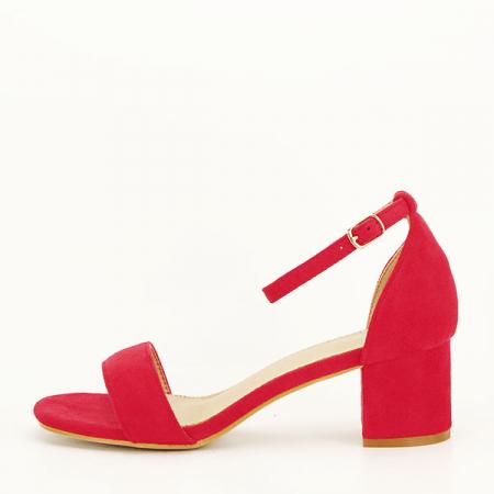 Sandale rosii din velur Lorena [0]