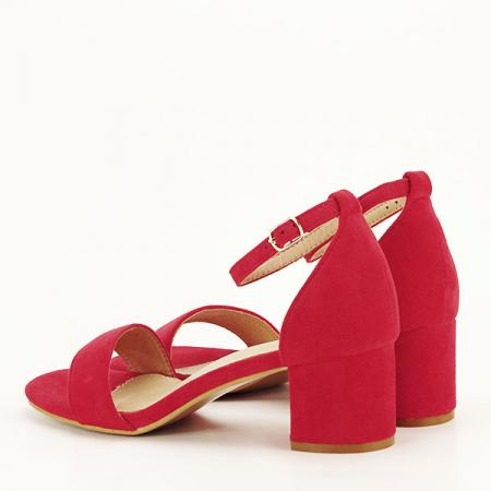 Sandale rosii din velur Lorena [3]
