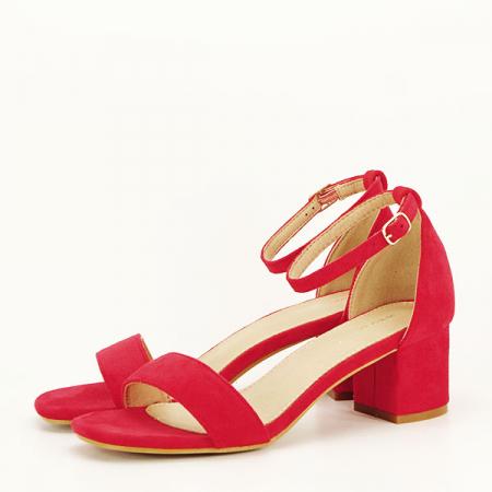 Sandale rosii din velur Lorena [1]