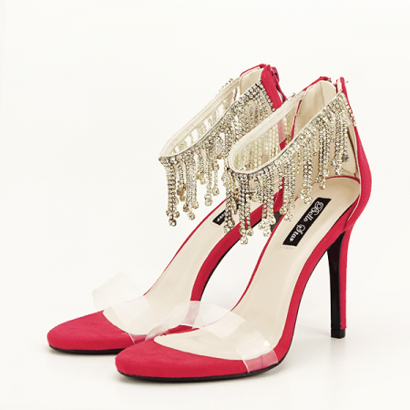Sandale rosii elegante Ioana [1]