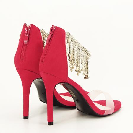 Sandale rosii elegante Ioana [4]