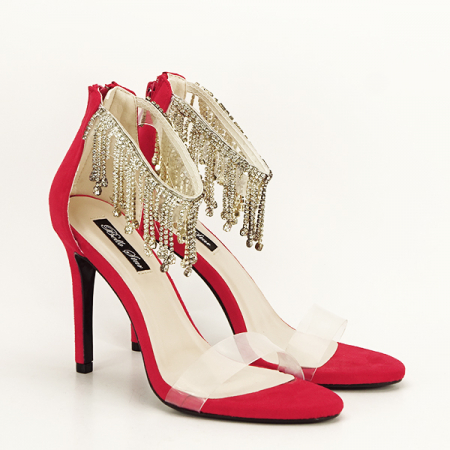 Sandale rosii elegante Ioana [2]