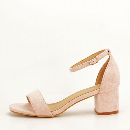 Sandale roz deschis din velur Lorena [1]