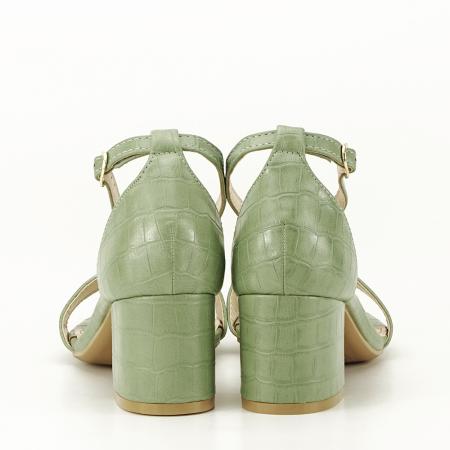 Sandale verde fistic cu toc gros Bella4