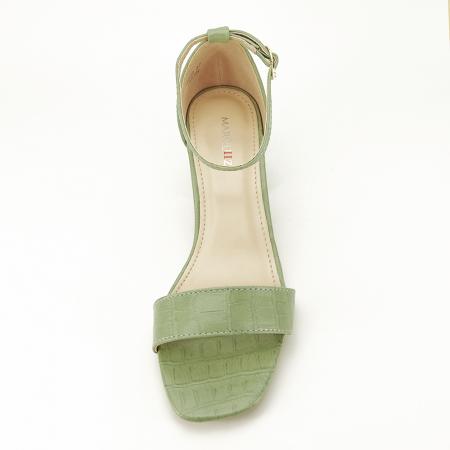 Sandale verde fistic cu toc gros Bella3