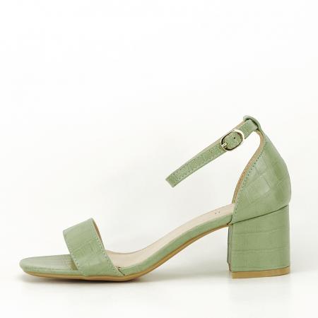 Sandale verde fistic cu toc gros Bella0