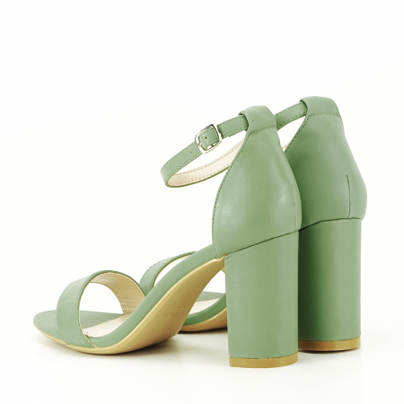 Sandale verde fistic cu toc gros Ingrid [7]