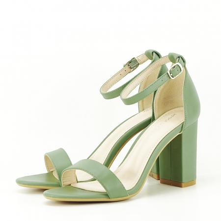 Sandale verde fistic cu toc gros Ingrid [1]