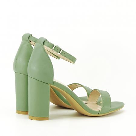 Sandale verde fistic cu toc gros Ingrid [2]